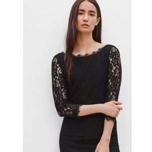 Aritzia Babaton Rafael Dress Black Lace
